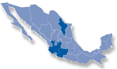 mapa mexico coverturas